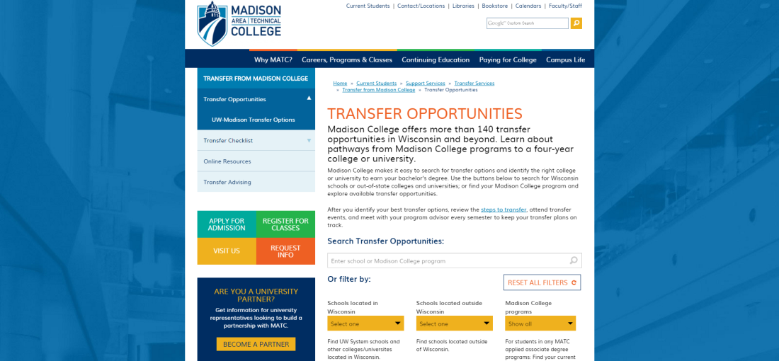 madisoncollege.edu Transfer Opportunities