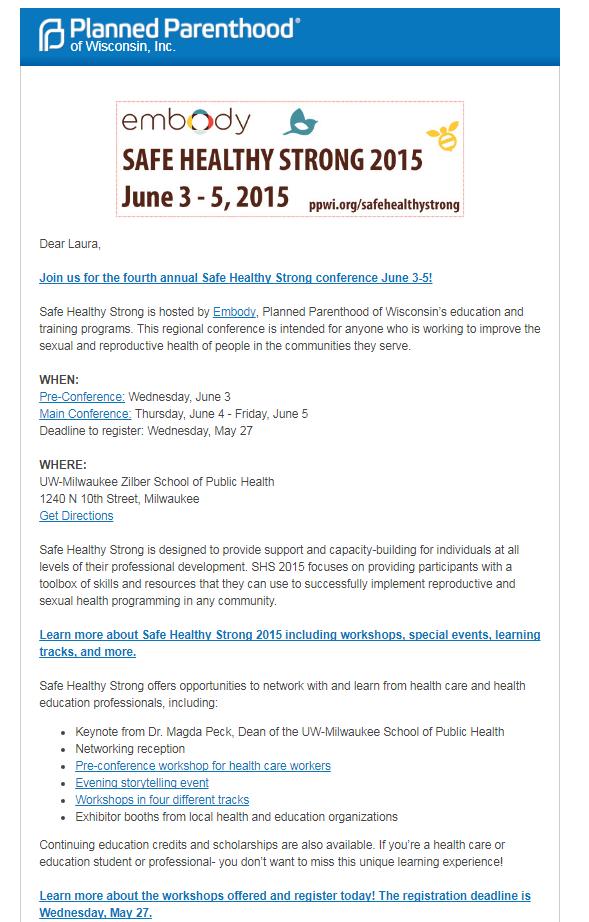 SHS 2015 Email
