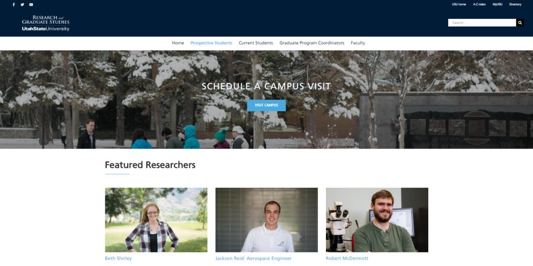 USU Prospective Graduate Students Landing Page