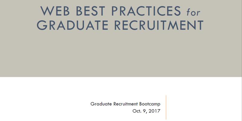 SEO for Graduate Recruitment Slide
