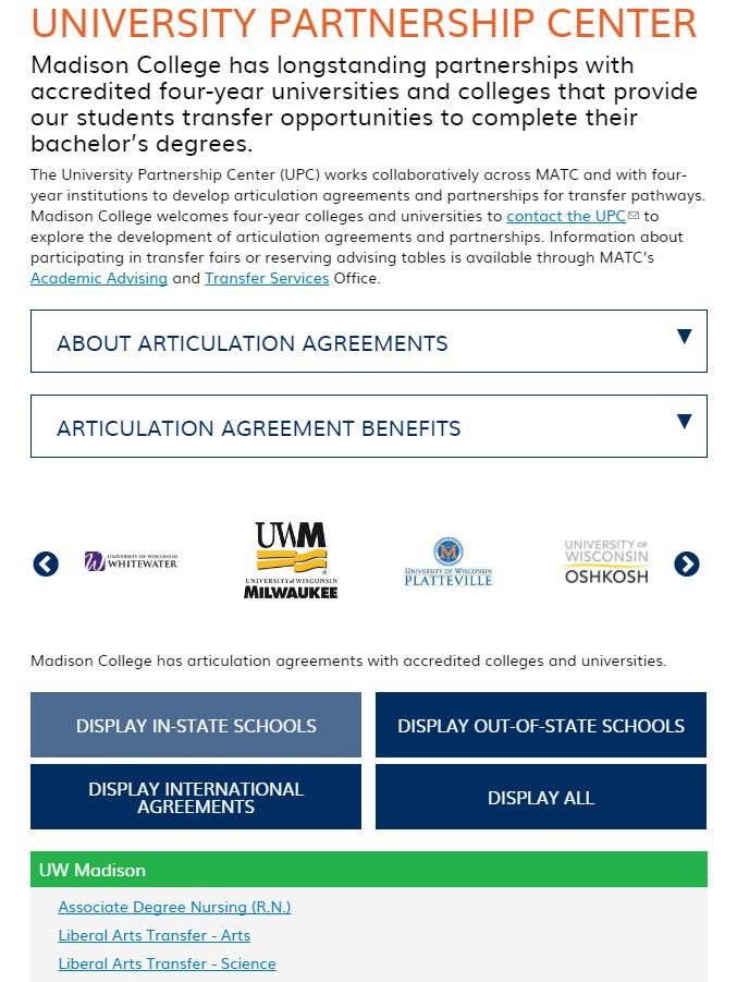 Madison College UPC Page