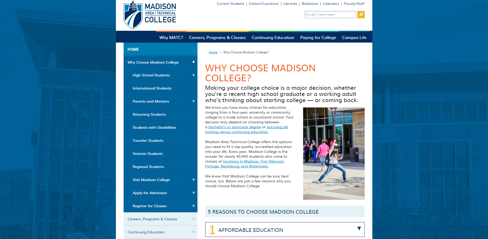 Why Choose Madison College
